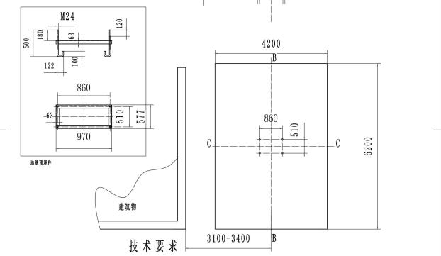 SC100齿条式物料提升机地基基础图-变更